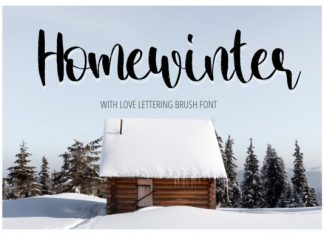 Home Winter Font
