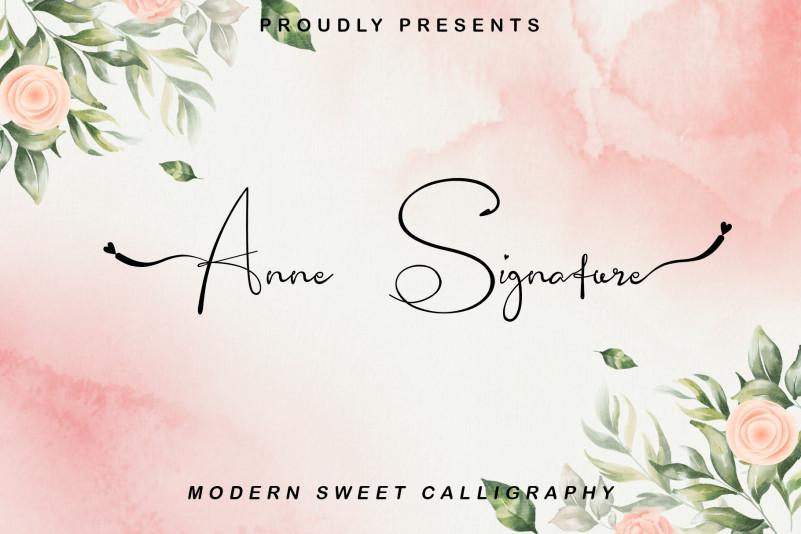 Anne Signature Font