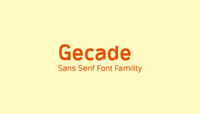 Gecade Font