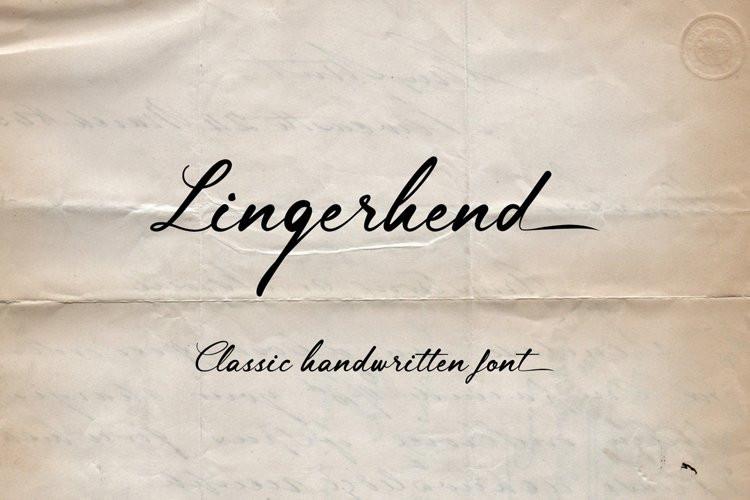 Lingerhend Font