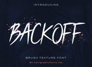 Backoff Font