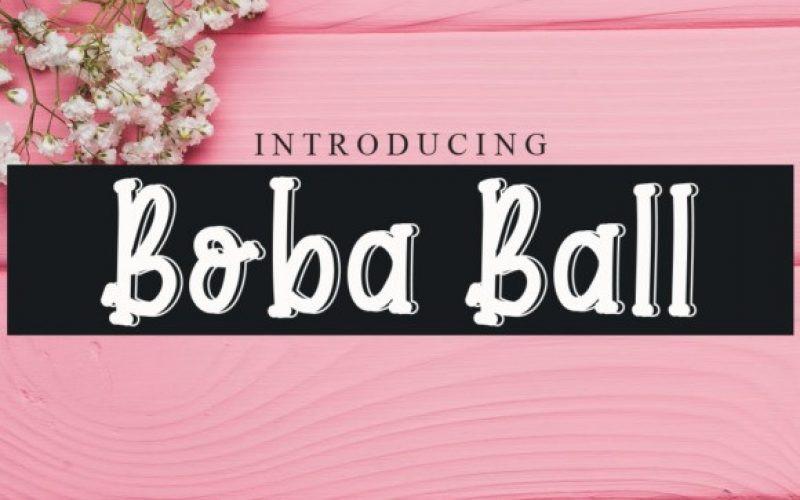 Boba Ball Font