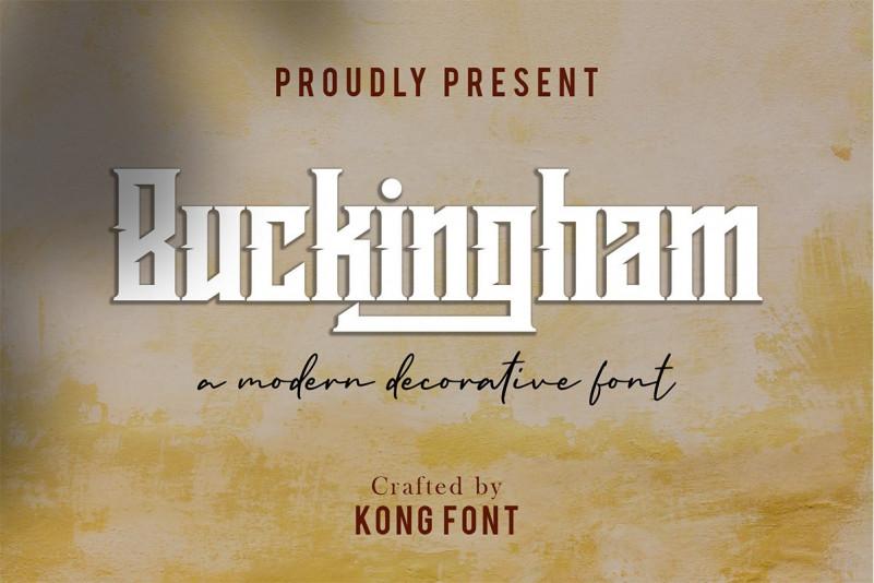 Buckingham Font