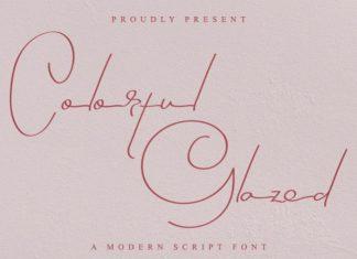 Colorful Glazed Font