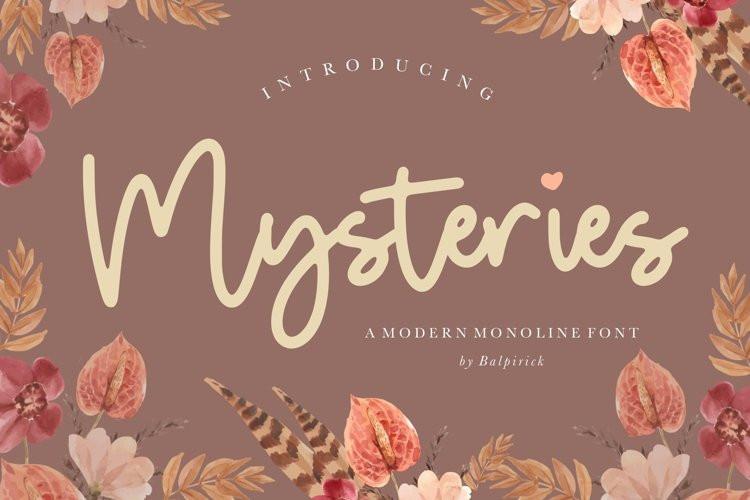 Mysteries Font