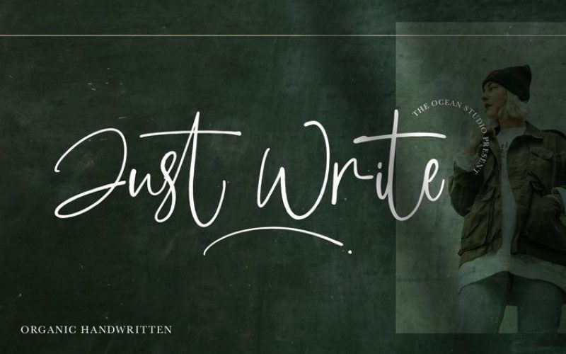 Just Write Font