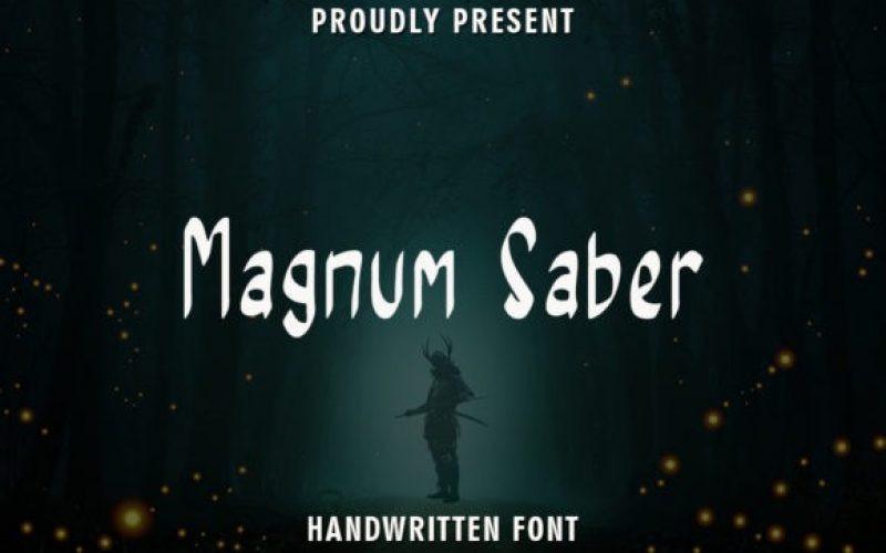 Magnum Saber Font