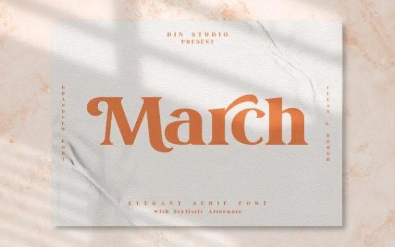 March Font