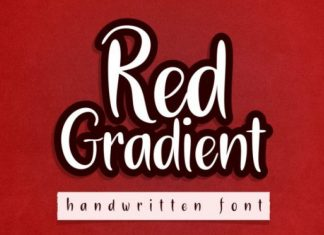 Red Gradient Font
