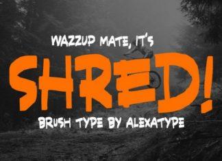 Shred Font