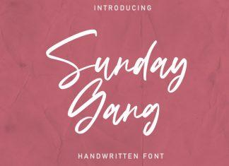 Sunday Gang Font