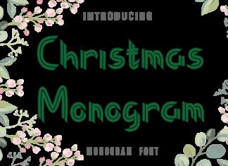 Christmas Monogram Font