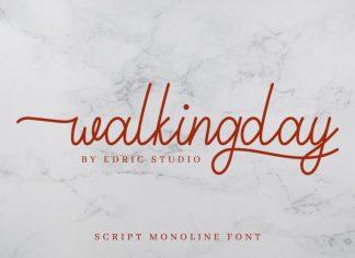 Walkingday Font