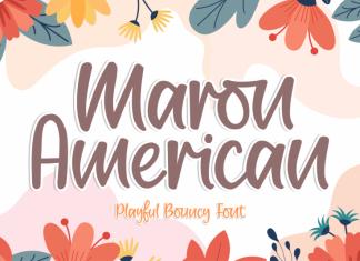 Maron American Font