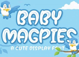 Baby Magpies Font