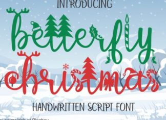 Betterfly Christmas Font