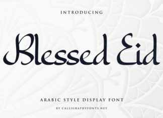 Blessed Eid Font
