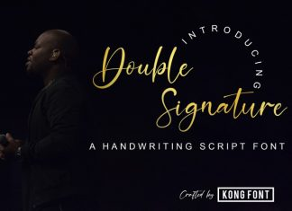 Double Signature Font