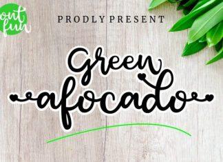 Green Afocado Font