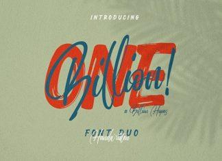 One billion Font