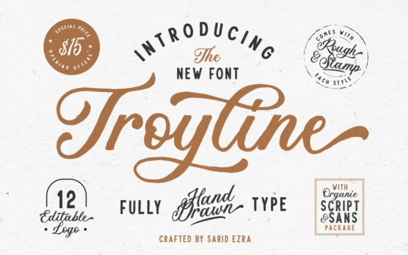 Troyline Font