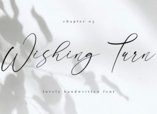 Wishing Turn Font