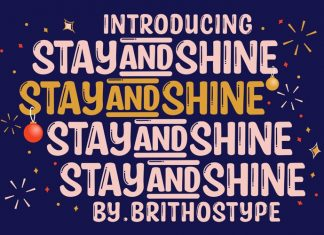 Stay And Shine Font