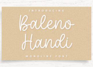 Baleno Handi Font