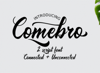 Comebro Unconnected Font
