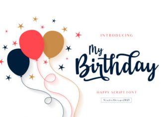 My Birthday Font