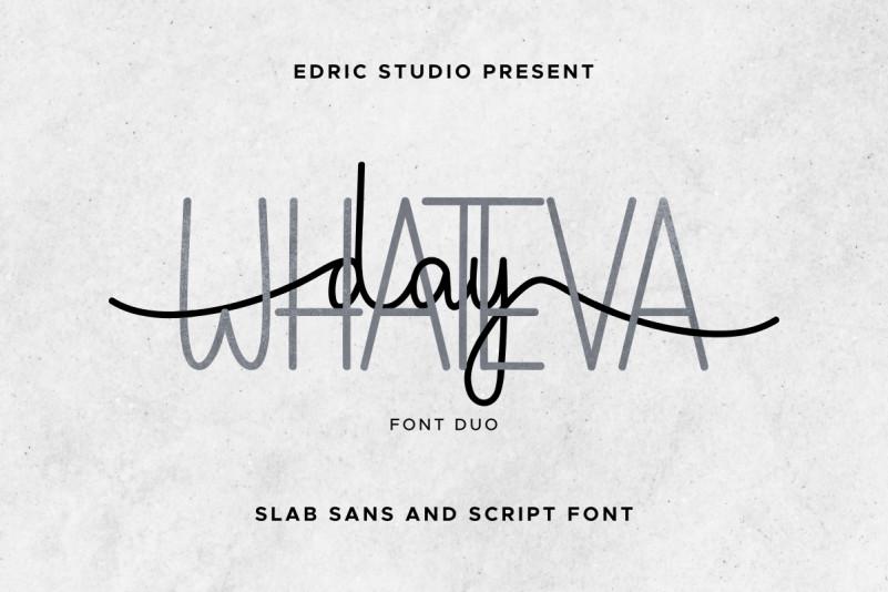 Whateva Day Font