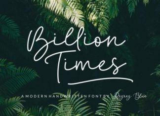 Billion Times Font