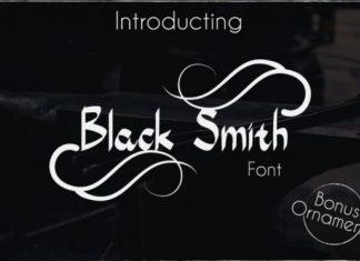 Black Smith Font