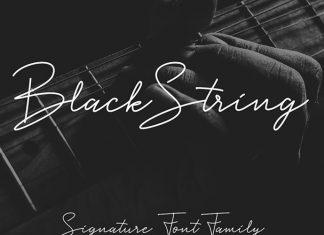Black String Font