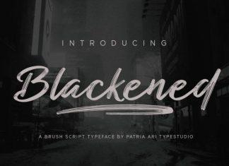 Blackened Font