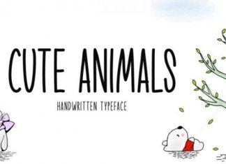 Cute Animals Font