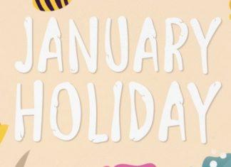 January Holiday Font