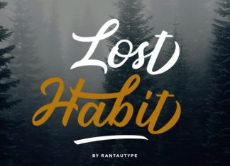Lost Habit Font