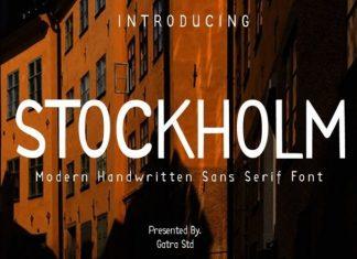 STOCKHLOM Font