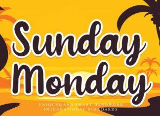Sunday Monday Font