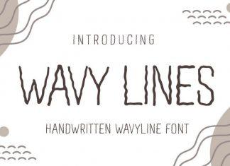 Wavy Lines Font