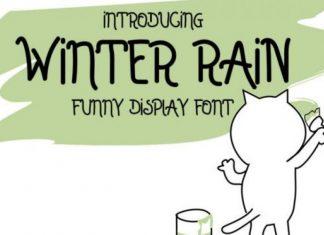 Winter Rain Font