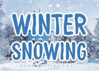 Winter Snowing Font