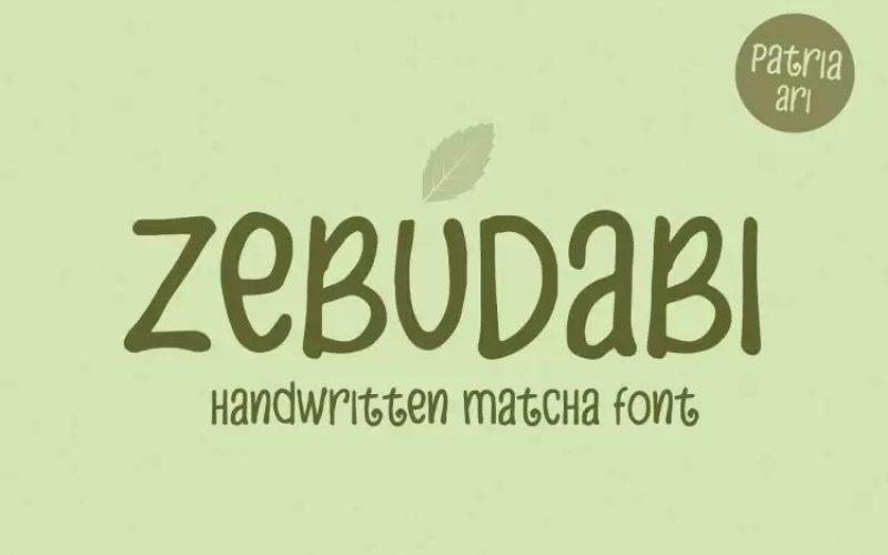Zebudabi Font