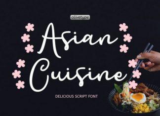 Asian Cuisine Font