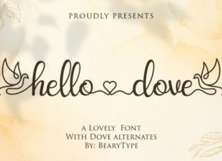 Hello Dove Font