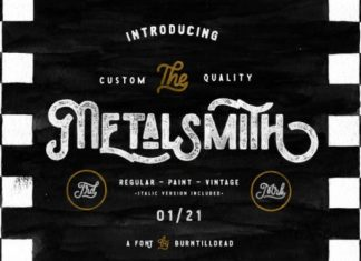 Metalsmith Font
