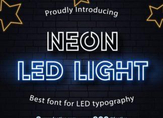 Neon Led Light Font