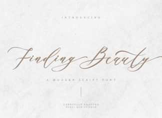 Finding Beauty Font