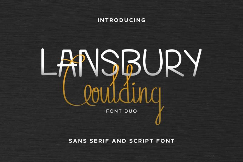 Lansbury Goulding Font